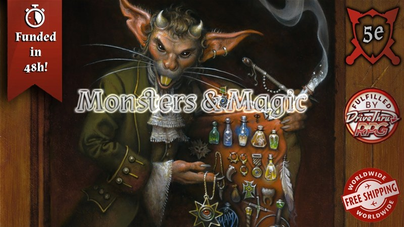 Monsters & Magic RPG Compendium Up On Kickstarter