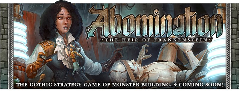 Plaid Hat Games Announces Abomination: The Heir of Frankenstein