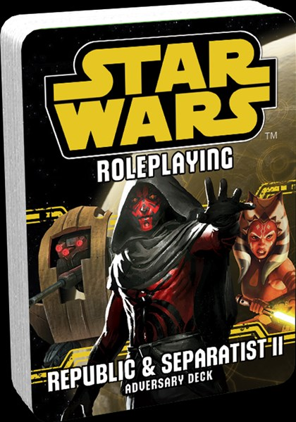 New Sourcebook and Adversary Deck Announced For Star Wars RPG