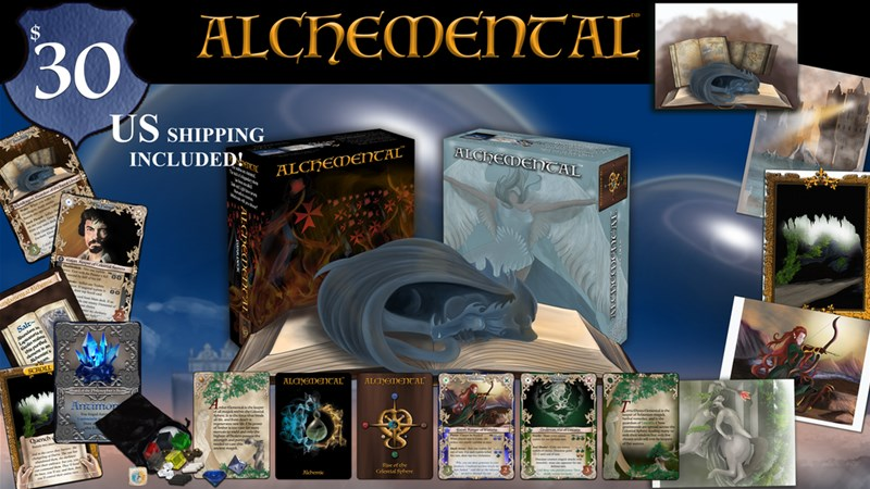 Alchemental: Rise Of The Celestial Spheres Card Game Up On
