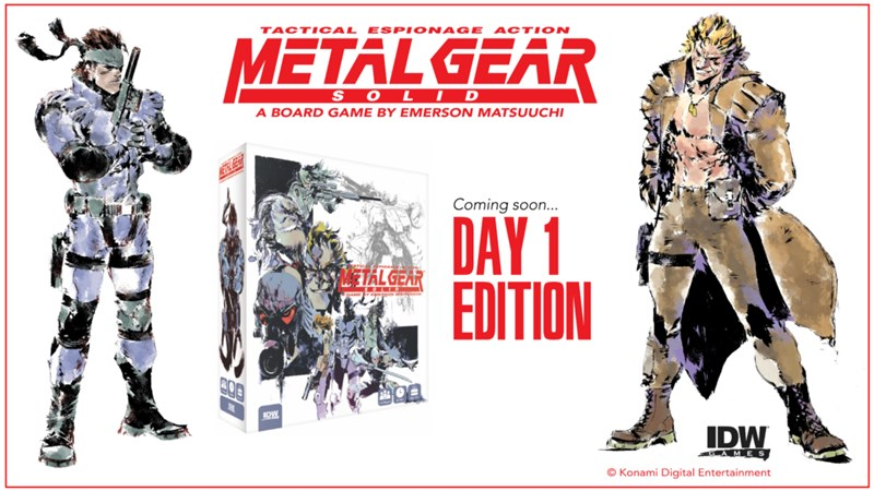 IDW Games Announces Metal Gear Solid: The Board Game Pre-Order Deal