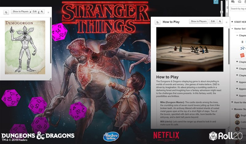 Dungeons & Dragons: Stranger Things Now Available on Roll20