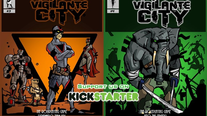 Survive This!! Vigilante City Books 3 and 4 Up On Kickstarter