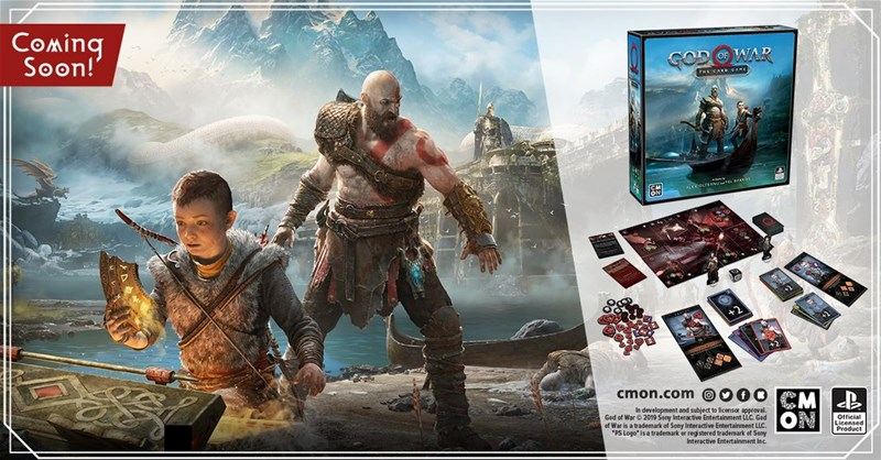CMON Previews Quests in God of War: The Card Game