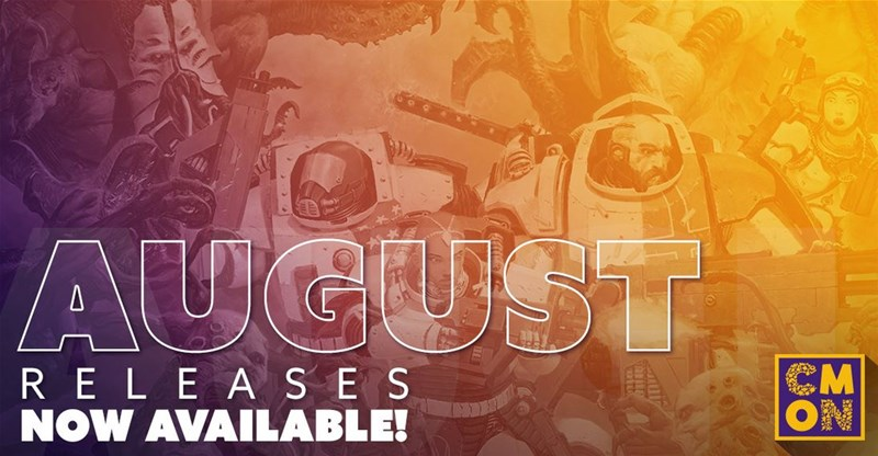 August Releases Available From CMON - Tabletop Gaming News – TGN