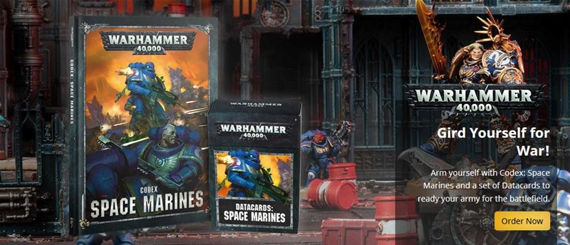 New Space Marines Codex Available to Order From Games Workshop