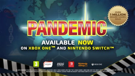 Pandemic Available On Switch and Xbox One