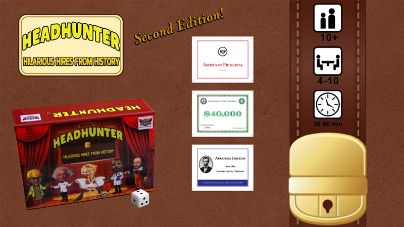 Headhunter: Hilarious Hires from History (2nd Edition) Up On Kickstarter
