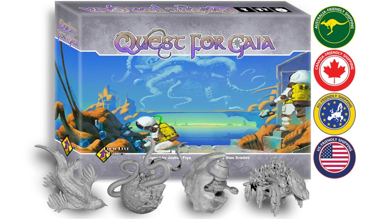 Quest for Gaia Board Game Up On Kickstarter