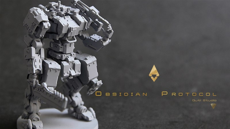 Obsidian Protocal Mecha Miniatures Game Up On Kickstarter