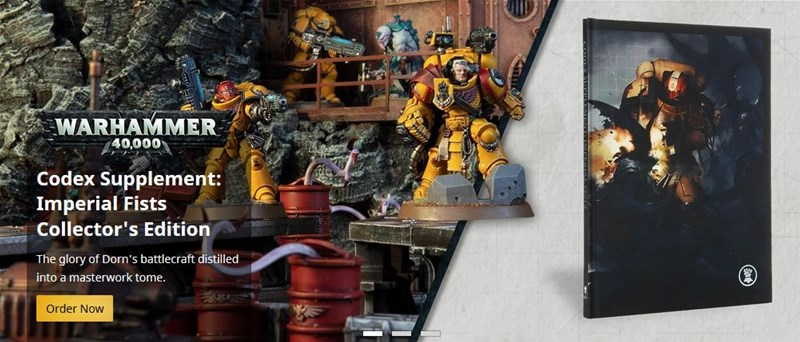 New Imperial Fist and Salamander Codices Available to Order From Games Workshop