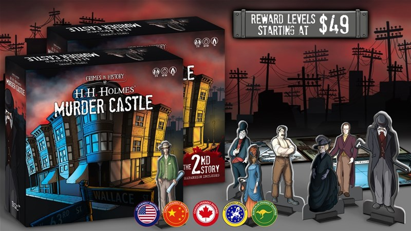 H H Holmes Murder Castle Board Game Up On Kickstarter