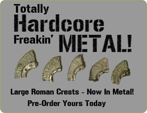 Roman Style Helmet Crests available in metal
