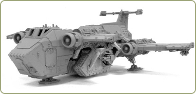 Raven Guard Thunderhawk Transporter With Land Raider