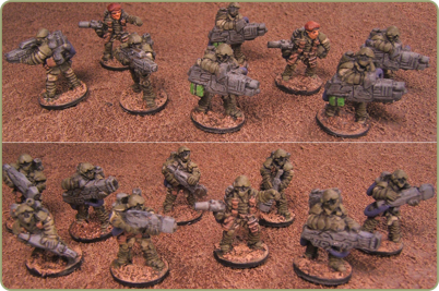 painted sample 15mm figures