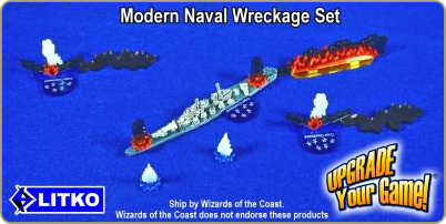 Modern Naval Wreckage Set