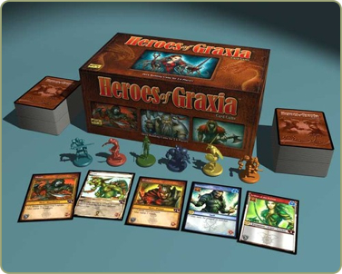 Heroes of Graxia fantasy based deck-building card game