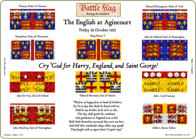 flags of the English at Agincourt