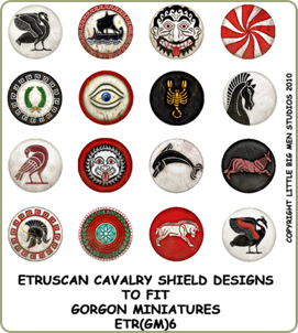 Etruscan cavalry shield transfers