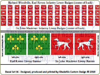 War of the Roses Lancastrian decals