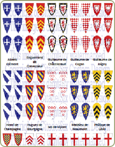 French Crusader decals