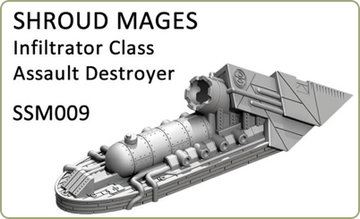 Shroud Mage Infiltrator Class Destroyer