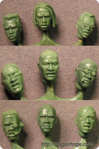 African American Head Set One