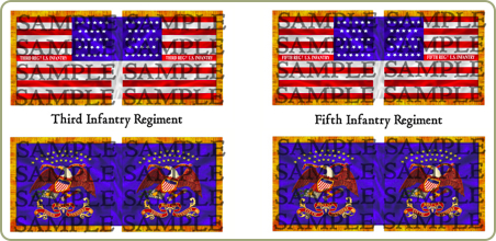Mexican-American War flags