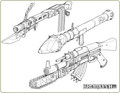 Orc WWII weapons