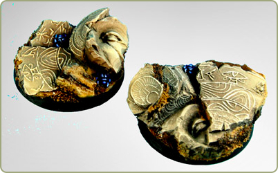 40mm Egyptian ruin bases