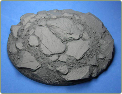 200mm x 155mm Slate Wasteland Base