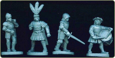 Italian infantry command standing