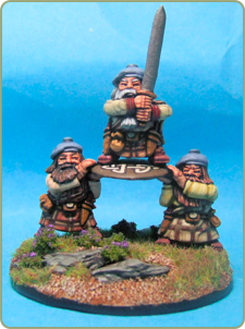 Highland Dwarf Hero and Shieldbearers