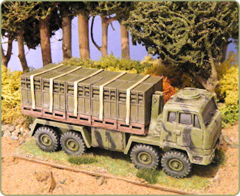 DROPPS Logistic vehicle with separate Artillery Ammunition load