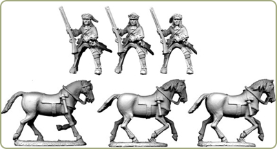 Mounted Dragoons in Fur-Trimmed Caps