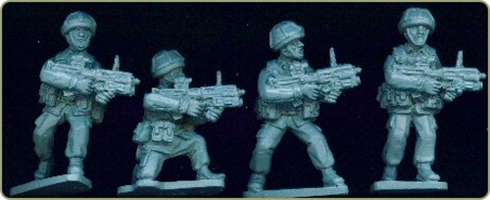 British infantry with L85 Grenade launcher