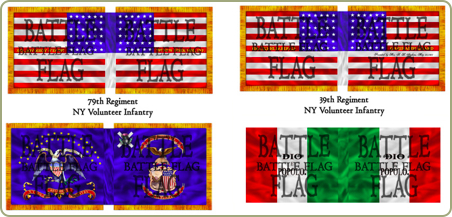 Wargame Flags American Civil War ACW Union15mm 25mm 28mm 20mm 40mm New York