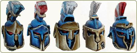 28mm Spartan Heads