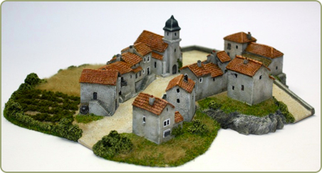 6mm Spanish Hill Town