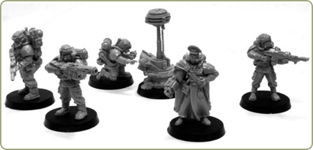 Cadian Hostile Environment Command Squad