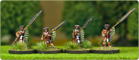 15mm Chinantec Mesoamerican figures