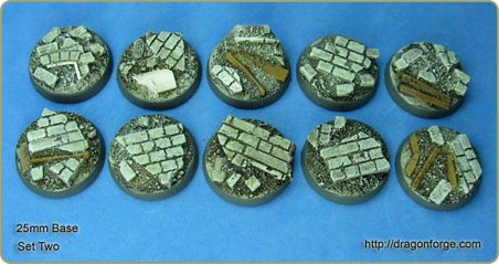 25mm urban rubble round base set 2
