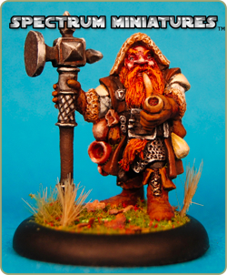 Spectrum Miniatures Ka-Chunk II, Leveled Up - Male Dwarf