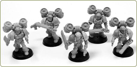 Space Marine Assault Squad in MkII Crusade Armour