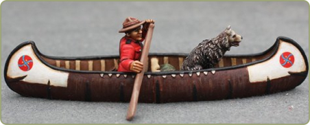 Mountie in canoe