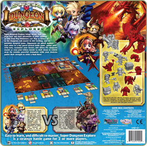 Super Dungeon Explore  back of box