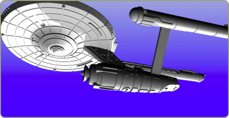 3D sculpted Federation Cruiser