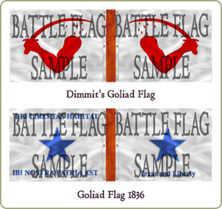 Texas War Of Independance flags