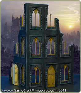 28mm Gothic Style sci-fi scenery