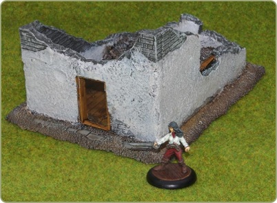 28mm ruined building